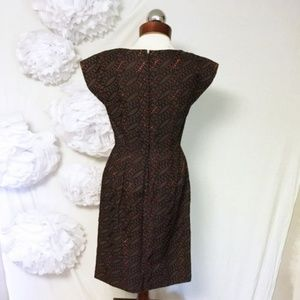 Vintage Dresses - Vintage 60's woven shoulder embroidered dress 12